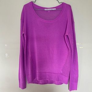 Lorna Jane Knit Pink/Magenta Scoop Neck Breathable Sweater Size Medium